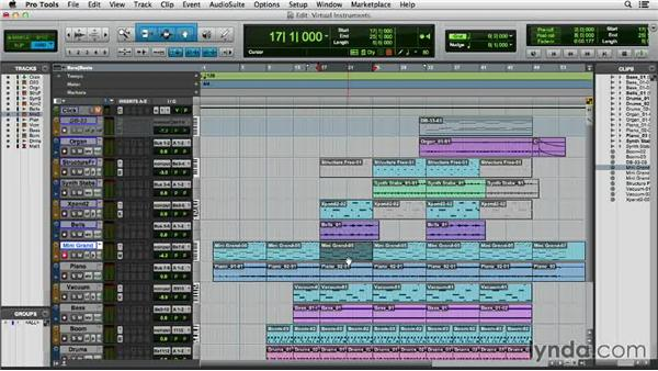 Composing with virtual instruments: Pro Tools 11 Essential Training