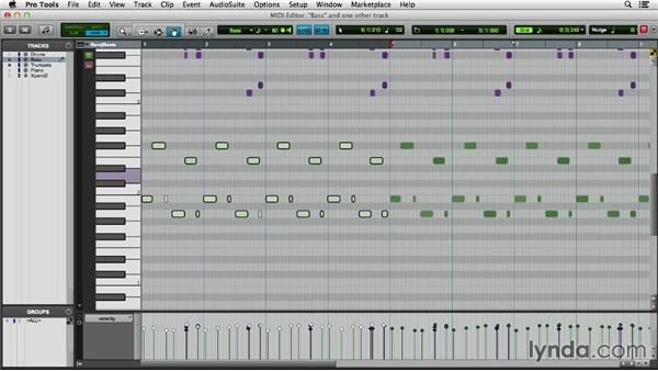 Working in the MIDI Editor window: Pro Tools 11 Essential Training
