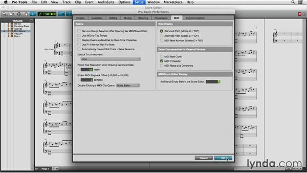Using the Score Editor in your workflow: Pro Tools 11 Essential Training