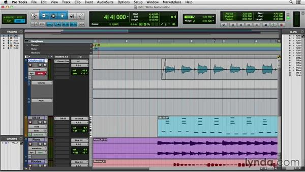 Writing and editing automation: Pro Tools 11 Essential Training