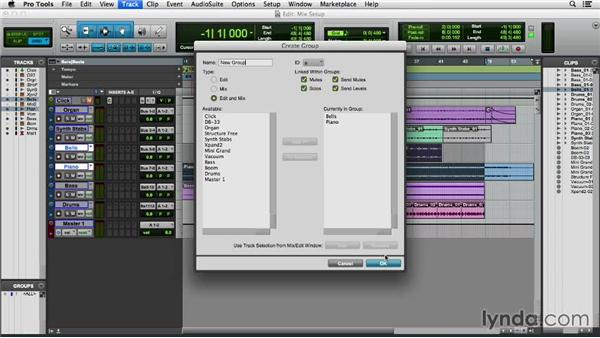 Setting up a session for mixing: Pro Tools 11 Essential Training