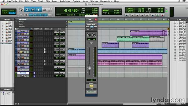 Creating an effects loop: Pro Tools 11 Essential Training