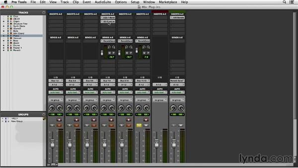 Working with plugins in the mixer: Pro Tools 11 Essential Training