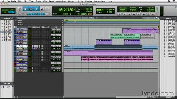 Applying compression and limiting: Pro Tools 11 Essential Training