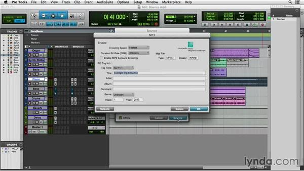 Making an MP3 for iTunes and SoundCloud: Pro Tools 11 Essential Training