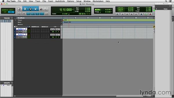Setting up a session for mastering: Pro Tools 11 Essential Training