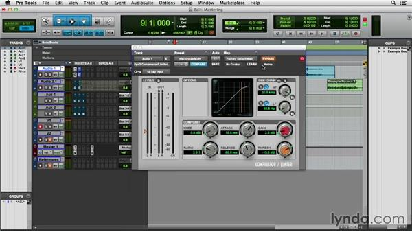 Exploring a simple mastering chain: Pro Tools 11 Essential Training