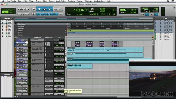 Adding sound and music to video: Pro Tools 11 Essential Training