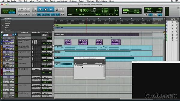 Bouncing to QuickTime: Pro Tools 11 Essential Training