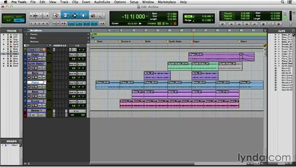 Archiving and sharing a session: Pro Tools 11 Essential Training
