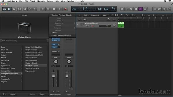 Exploring templates: Logic Pro X Essential Training