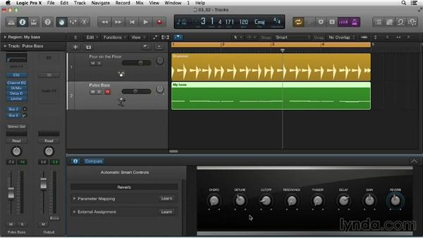 Discovering Smart controls: Logic Pro X Essential Training