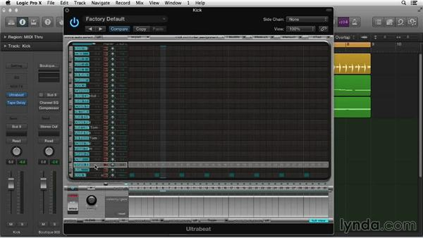 Making beats with Ultrabeat: Logic Pro X Essential Training