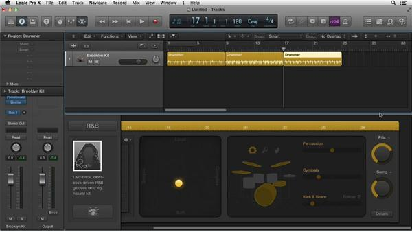 How to create drum parts using the new Drummer track: Logic Pro X Essential Training