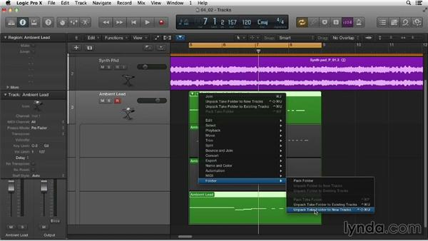 Recording MIDI in separate takes: Logic Pro X Essential Training