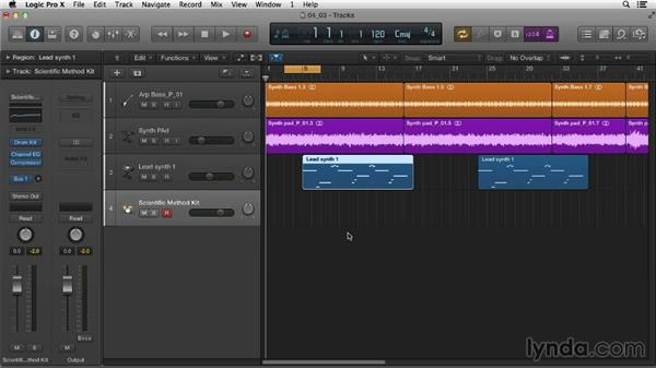Merge recording with MIDI: Logic Pro X Essential Training