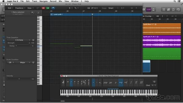 Working with Step Input recording: Logic Pro X Essential Training