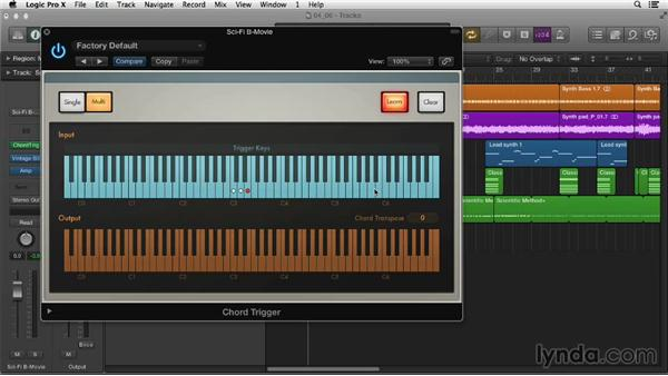 Exploring MIDI plugins: Chord Trigger: Logic Pro X Essential Training