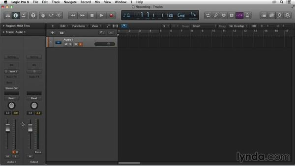 Setting up for recording: Logic Pro X Essential Training