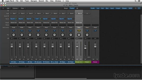 Recording a band: Logic Pro X Essential Training