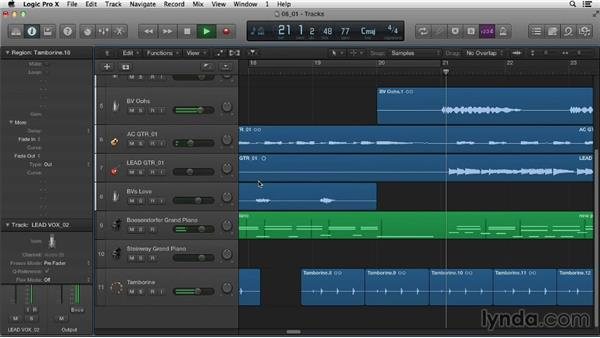 Working with audio regions: Logic Pro X Essential Training