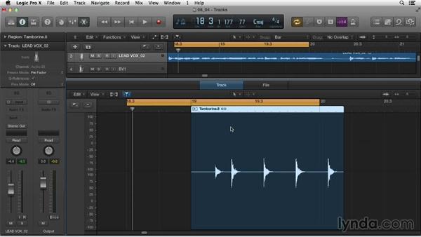 Editing in the Audio File Editor: Logic Pro X Essential Training