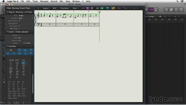 Composing in the Score Editor: Logic Pro X Essential Training