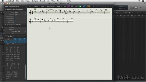 Editing in the Score Editor: Logic Pro X Essential Training