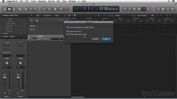 Setting up for a sync-video project: Logic Pro X Essential Training