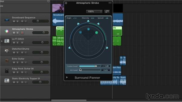 Using the Surround Panner: Logic Pro X Essential Training