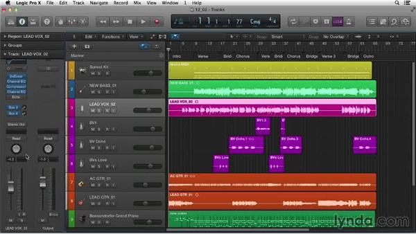 Mapping controls for hands-on mixing: Logic Pro X Essential Training