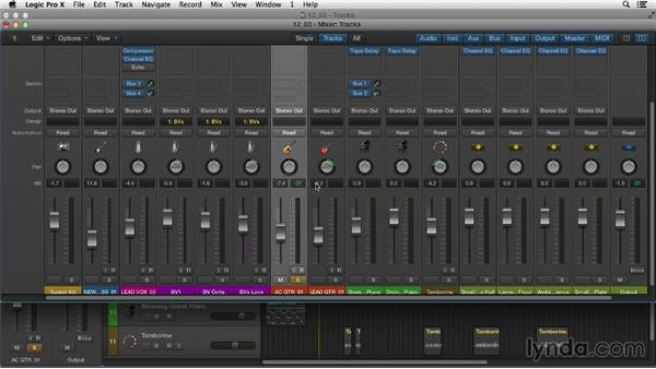 Panning in Logic: Logic Pro X Essential Training