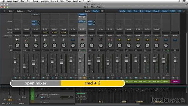 Mixing with patches: Logic Pro X Essential Training