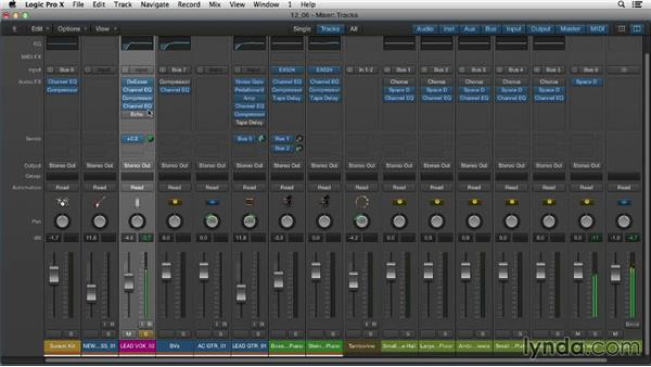 Adding reverb and delay to your mix: Logic Pro X Essential Training