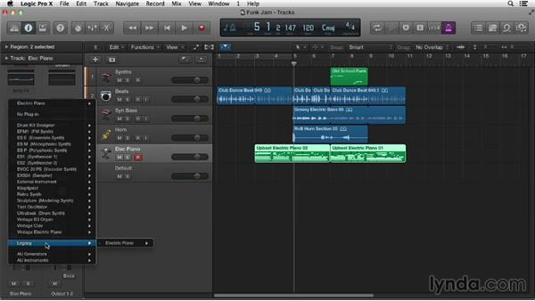Importing from GarageBand and Logic Pro 9 and earlier: Logic Pro X Essential Training