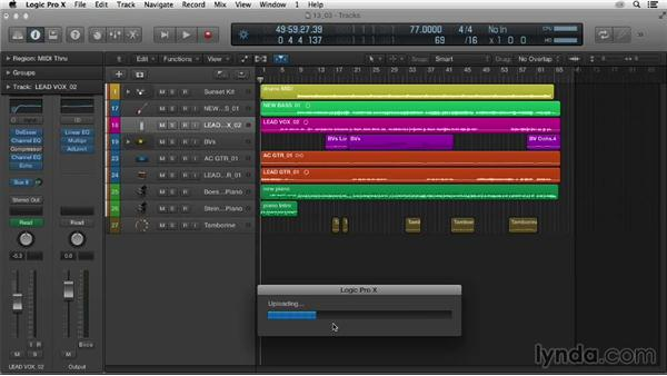Sharing your music: Logic Pro X Essential Training