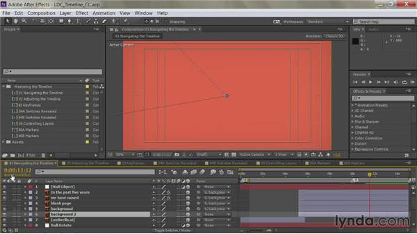 Go to a specific time: After Effects Guru: Mastering the Timeline