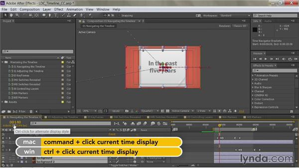 Switching frames vs. timecode: After Effects Guru: Mastering the Timeline