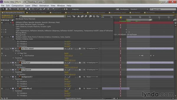 Doing a find in the Timeline: After Effects Guru: Mastering the Timeline