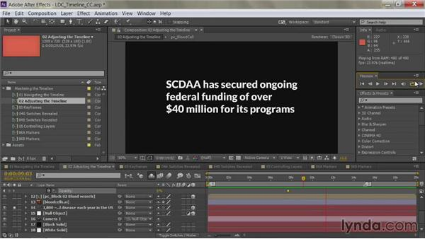 Soloing layers: After Effects Guru: Mastering the Timeline