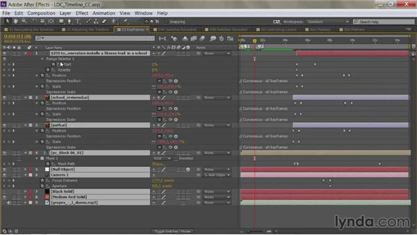 Viewing all keyframes: After Effects Guru: Mastering the Timeline