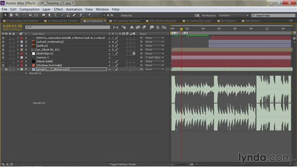 Show only audio levels: After Effects Guru: Mastering the Timeline
