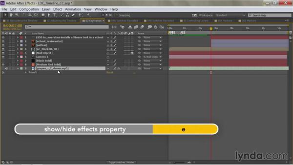 Show only effects properties: After Effects Guru: Mastering the Timeline