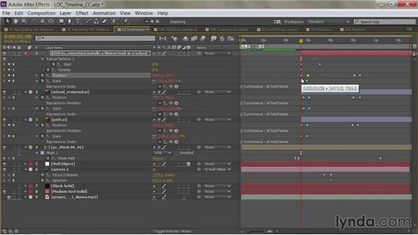 Navigating keyframes: After Effects Guru: Mastering the Timeline
