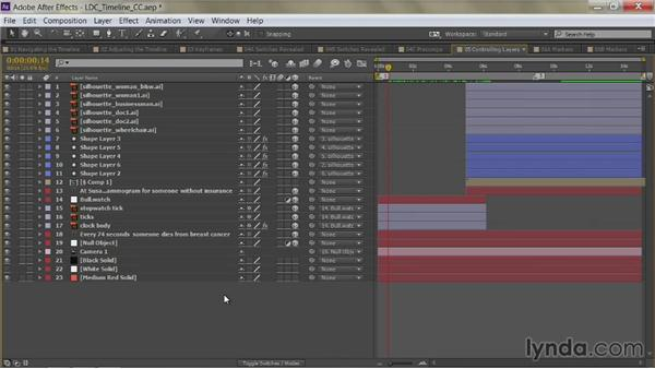 Choosing a layer: After Effects Guru: Mastering the Timeline