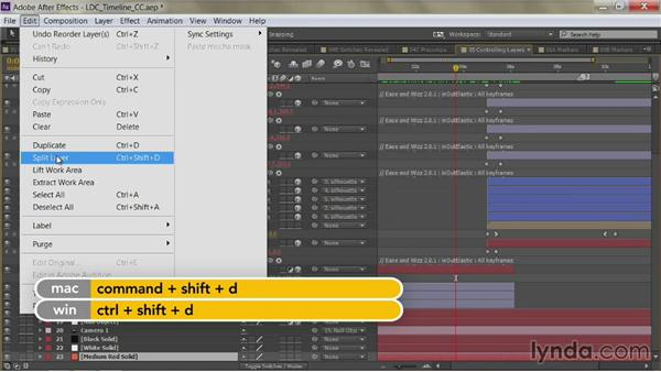 Splitting a layer: After Effects Guru: Mastering the Timeline