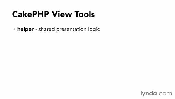 What is a view and how can I generate it?: Up and Running with CakePHP