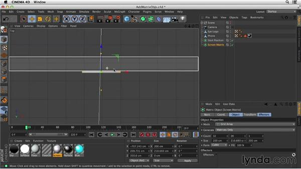 Creating shapes using matrices: Mograph Techniques: Morphing Particles in CINEMA 4D