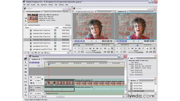 timeline window: Premiere Pro 1.5 Essential Training
