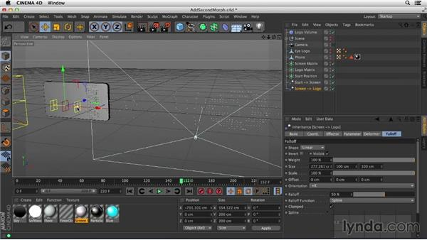 Animating the second morph: Mograph Techniques: Morphing Particles in CINEMA 4D